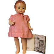 18 inch 1936 Composition Effanbee Patsy Ann doll and original book, Doll Ex. Condition