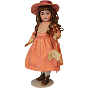 23 inch Antique German Bisque Adolf Wislizenus AW Doll orig BJ compo body Pretty!