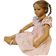 "Vintage Annette Himstedt Doll ""Fiene"" 1990-91 Beautiful Art Doll Original Dress!"