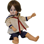 8.5 inch Antique German bisque DEP Boy doll Original ball joint body Sailor outfit