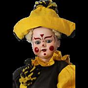 """18"""" Simon & Halbig 1078 Handwerck Clown German Bisque Doll Boo Boo Bargain"""