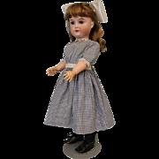 Antique German bisque 22 inch 165 doll by Gebruder Kuhnlenz Ball Jtd Body, Nice!