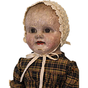 21 inch Antique Cloth Oil Painted Philadelphia Baby Doll J.B. Sheppard Dept Store