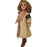 "Antique 14"" DEP Jumeau Walking Doll French Bisque Original Clothing c.1900"