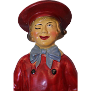 Antique Chalk 16.5 inch Buster Brown and Tige Counter top Advertising Comic Character