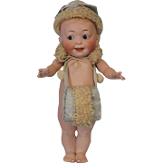 "c.1900 11"" Hertel Schwab ""Our Fairy"" 222 28 All Bisque GOOGLY Doll Largest Size"