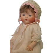 Antique 6 Inch All Bisque Tynie Baby Doll by Horsman Swivel Head 1924 RARE DOLL