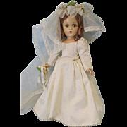 SOLD Early Composition 15 inch Madame Alexander Wendy Ann Bride Doll Original!