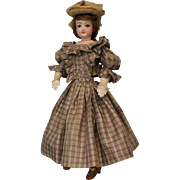 "15"" Antique Jumeau French Fashion doll swivel head, stamped body c.1870s Dressed"