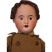 "15"" SFBJ Paris 4/0 Military Gentlemen French Bisque Character Doll Original"