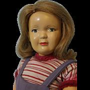 14-1/2 Inch Vintage Dewees Cochran Type Latex Girl Doll Original Wig & Clothing