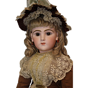 """26"""" Rare French Bisque Character Doll 225 Emile Jumeau Art Character Series 1892"""