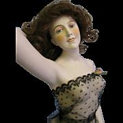 "SALE Galluba & Hofmann HUGE 17"" Early German Bisque Bathing Beauty Wigged, Gorgeous"
