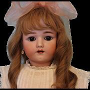 """SALE 24"""" Henrich Handwerck German Bisque Doll with original clothes, brown sleep eyes"""