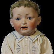 """SALE 22"""" Antique Kestner #211 JDK c1910 Character baby Original Skin Wig & Sleep Eyes"""