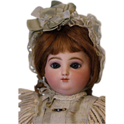"""SALE 17"""" Antique Round face Jules Steiner Doll Marked mama/papa body Antique Clothes"""