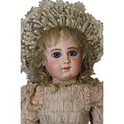 """SALE 23"""" Antique 9 over EJ Bebe Jumeau w.Blue Paperweights French Bisque doll"""