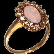SALE Very Sweet & Feminine Late Victorian 1900-1910's Opal & Diamond ring