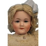 """SALE 16"""" Antique Kley & Hahn German Bisque Character """"549"""" Very Pretty Girl dol"""