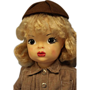 "SALE 16"" Terri Lee Doll c1954 in Tagged Brownie Uniform + Official Brownie Hankie"