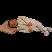 "SALE 19"" Sleeping ""Traumerchen"" Kathe Kruse Sand Baby Doll c.1940s Feels Real!"