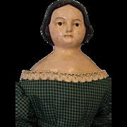 """SALE 15"""" Antique c.1870 Papier Mache German Milliner's Model Doll 19th Century"""