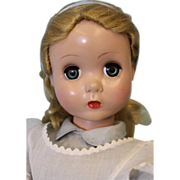 """SALE 20"""" 1950's """"Alice in Wonderland"""" Doll Maggie Face Madame Alexander Tagged"""