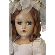 """SALE Early Composition 15"""" Madame Alexander Wendy Ann Bride Doll Painted Original!"""