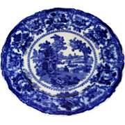 "English Flow Blue ""China"" 9"" Plate"