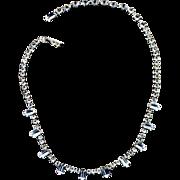 Vintage Weiss Rhinestone Choker Necklace