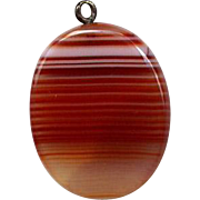 Polished Banded Agate Pendant or Watch Fob