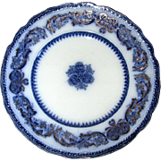 "English Flow Blue New Wharf Pottery ""Madras"" 10"" Plate"