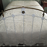 SALE Victorian White-on-White Wedding Quilt