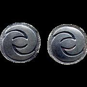 SALE Sterling Hand-Made Modernist Post Earrings