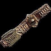 Victorian Gold-Filled Mesh Bracelet with Fancy Slide