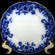 """English Flow Blue """"Ventnor"""" 8"""" Salad Plate"""