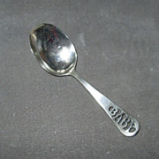 "SALE Vintage Sterling Silver ""Baby"" Spoon"