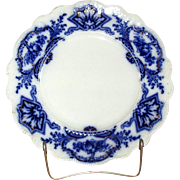 "English Flow Blue 10"" Semi-Porcelain ""Alaska"" Plate"