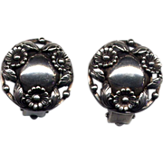 SALE Denmark Sterling N. E. From Clip Earrings