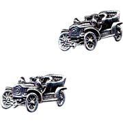 Sterling Silver Vintage Automobile Cufflinks