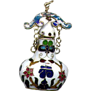 Hand-Decorated Ceramic Perfume Bottle Pendant