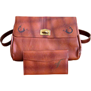 Leather Meeker Handbag with Matching Wallet
