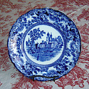 """SALE English Flow Blue F. Winkle & Co. """"Togo"""" Plate"""