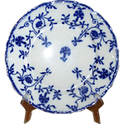 """English Flow Blue Meakins """"Colonial"""" 8"""" Luncheon Plate"""