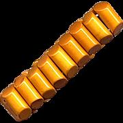 Caramel Bakelite Stretchy Link Bracelet