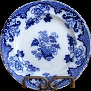"English Cauldon Flow Blue 7 1/2"" ""Candia"" Plate"