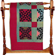 Vintage Multi-Colored Amish Hired Hand's Quilt