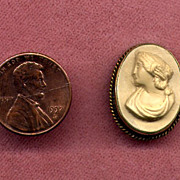 SALE Small Gold-Filled Lava Cameo Pin
