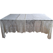 SOLD Large Filet-Crochet Tablecloth or Coverlet