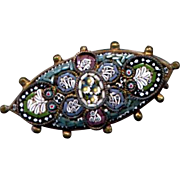 Delicate Vintage Italian Mosaic Millefiori Pin